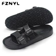 FZNYL мужские сандалии; летние пляжные прогулочные мягкие дышащие туфли с пряжкой на ремешке; мужские повседневные Вьетнамки; классические черные сандалии