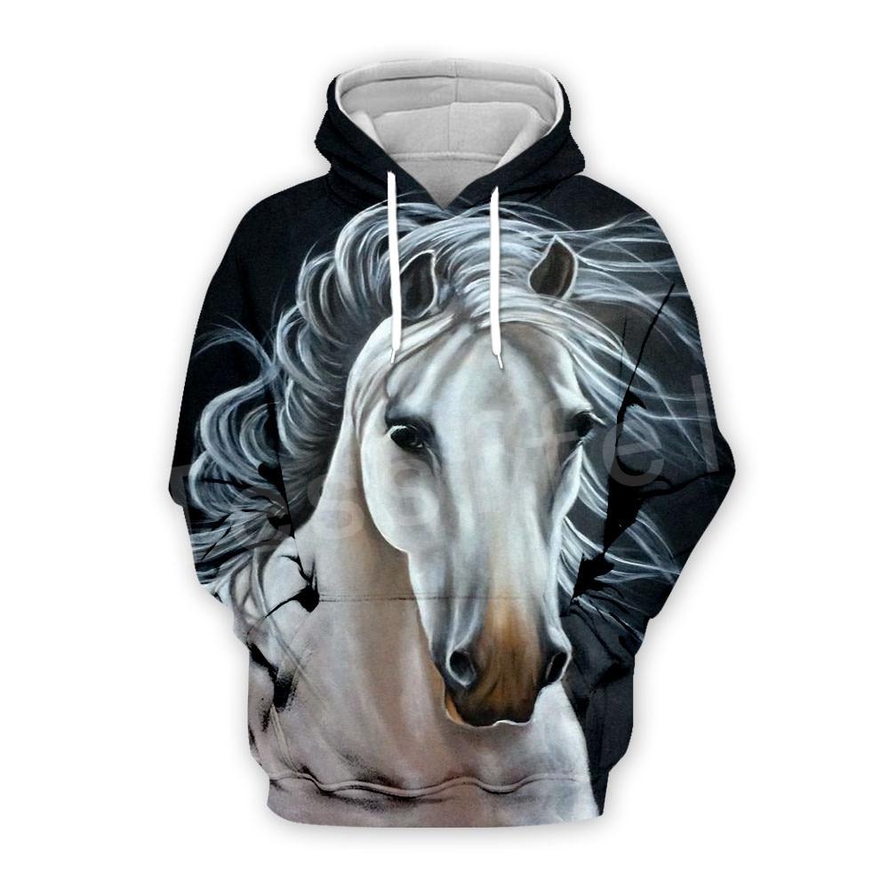 Tessffel Animal Strong Horse Art Unisex Colorful Tracksuit Casual Harajuku 3DPrint Hoodie/Sweatshirt/Jacket/Men Women S-1