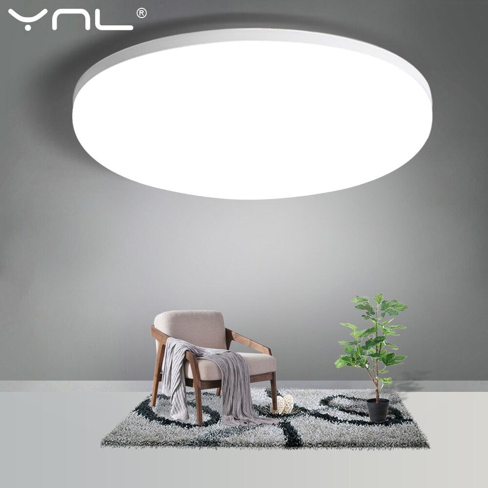 Lámpara de Panel LED ultrafina para techo, 110V, 220V, 48W, 36W, 24W, 18W, 13W, 9W, 6W, sala de estar, iluminación para el hogar, lámpara LED moderna para techo