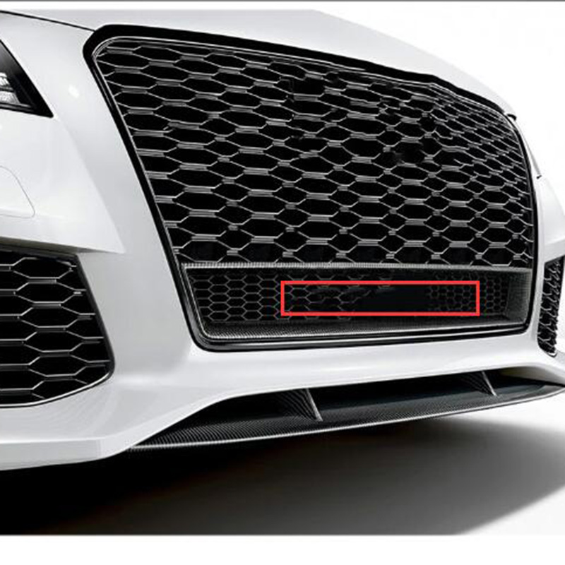 Car Styling Front Lower Honeycomb Badge Four Wheel Drive Logo for Audi quattr0 A6L Q3 Q5 Q7 RS3 RS6 S4 42cm Big Grille Emblem image