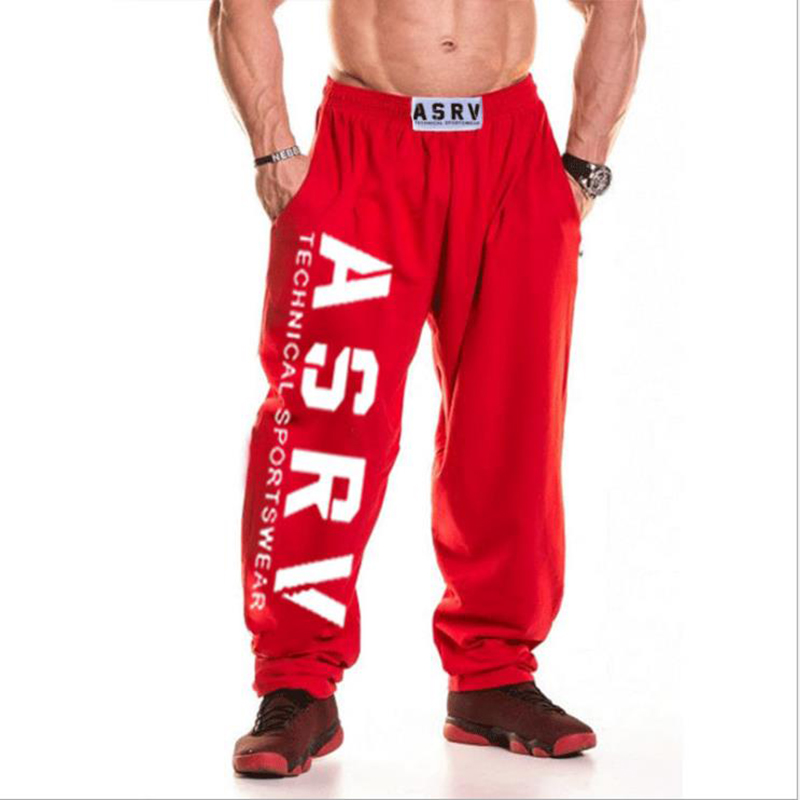 2019 Men Jogger Patchwork  Pants Men Fitness Bodybuilding  Pants Runners Clothing Sweatpants Trousers HombreM - Size XXL