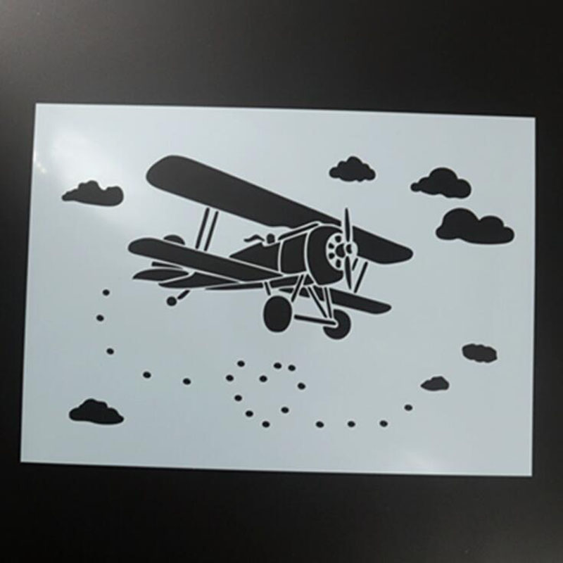 Aircraft DIY Craft Layering Stencils For Walls Painting Scrapbooking Stamp Album Decor Embossing Paper Card Template Reusable