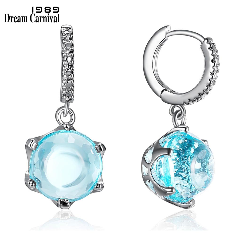 DreamCarnival1989 Heißer Verkauf Sonder Cut Cubic Zirkon Ohrringe für Frau Himmel Blau Farbe Stein Elegante Schmuck Großhandel WE3819