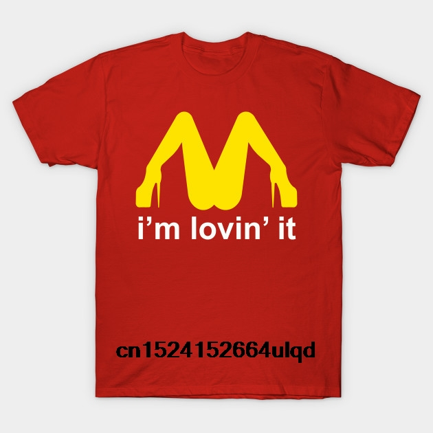 100% Cotton O-neck Custom Printed <font><b>Tshirt</b></font> Men T shirt Im Lovin It Mcdonalds <font><b>Parody</b></font> - Mcdonalds Women T-Shirt image