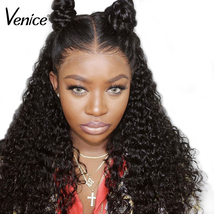 Venice Brazilian 13x6 Lace Front Human Hair Wig Pre Plucked With Baby Hair Glueless Lace Front Wigs Bleached Knot Remy Hair