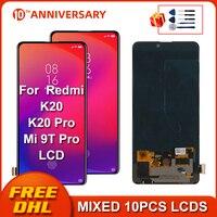 Super amoled lcd para xiao mi vermelho mi k20 pro display lcd de tela toque digitador assembléia substituir peças para xiao mi 9 t pro k20 lcd LCDs de celular     -