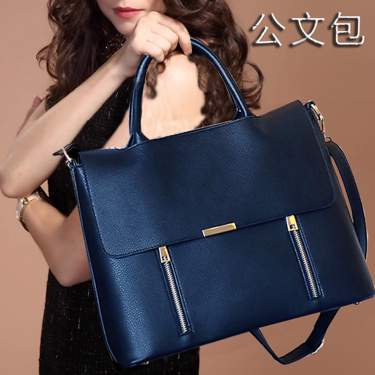 Women's Leather Briefcase Business Office Bags For Women Work Bag 13.3