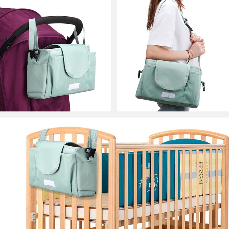 Baby Stroller Bag Organizer Mommy Travel Bags Accessories Toddler Waterproof Milk Bottle Diaper Nappy Pram Stroller Hanging Bag
