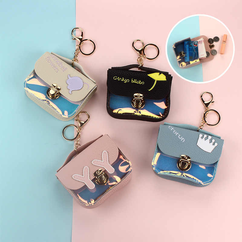 2019 Fashion Dames Lady Kid Coin Wallet PU Lady Kleine Mini Coin Pouch Hasp Geld Key Oortelefoon Lijn Coin Houder portemonnee