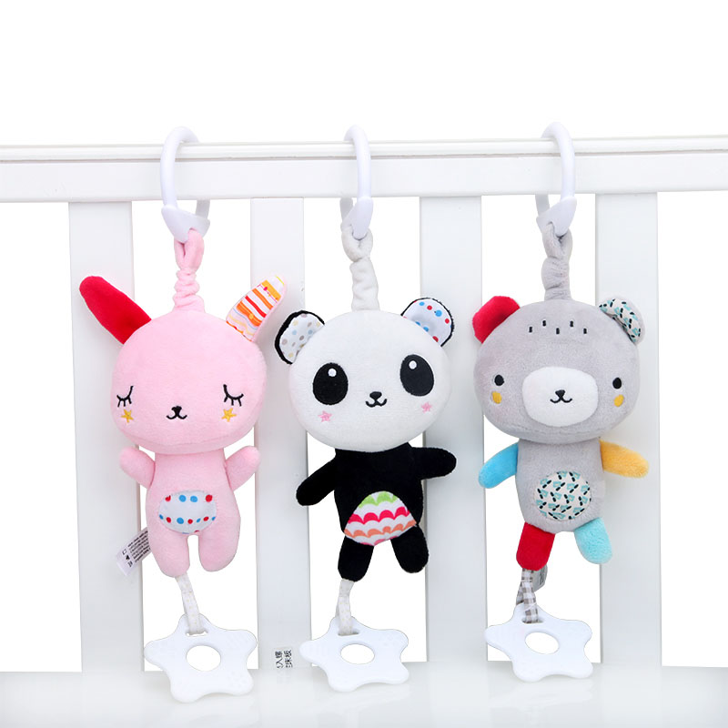 New Baby Rattles Mobiles Toddler Toys Crib Toys For Newborn Baby Soft Bed Bell Animal Musical Montessori Educational Rattles