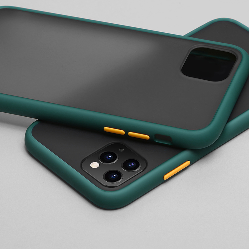 N1986N чехол для телефона для iPhone 11 Pro X XR XS Max 7 8 Plus роскошный контрастный цвет рамка Матовый Жесткий PC защитный чехол для iPhone 11 чехол - Цвет: Dark green