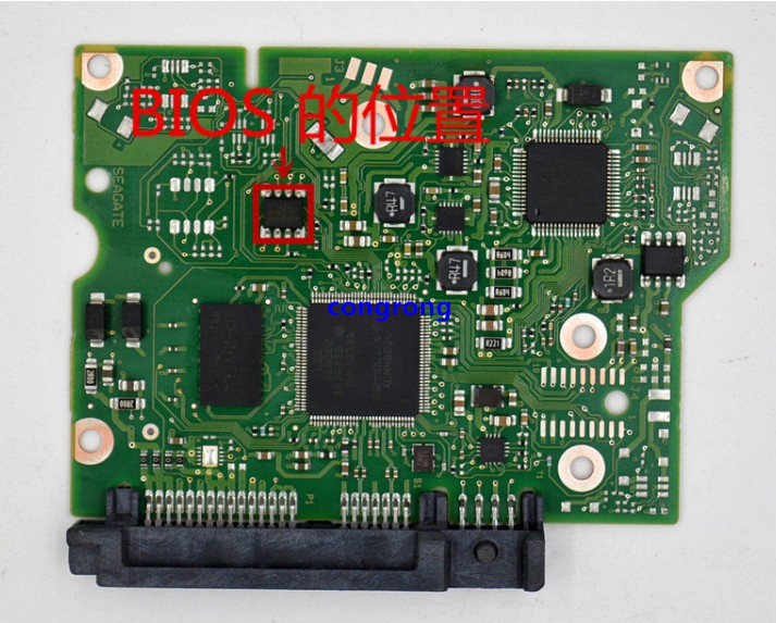 100664987 REV A B Data Recovery Green Logic Controller Replacement Practical PCB Printed HDD Durable Circuit Board ST2000DM001