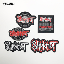 Death metal  band Patch Badges Embroidered Applique Sewing Iron On Badge Clothes Garment Apparel Rose Accessories embroidered rose patch tee dress