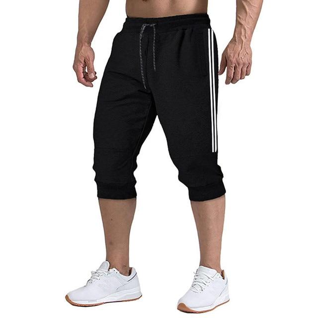 2020 New Men Jogger Casual Slim Harem Shorts Soft 3/4 Trousers Fashion New Brand Men Sweatpants Summer Comfy Male Shorts  XXXL