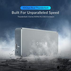 Image 2 - ORICO Thunderbolt 3 40Gbps NVME M.2 SSD Enclosure 2TB Aluminum Type C with 40Gbps Thunderbolt 3 C to C Cable For Mac Windows