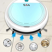 Rechargeable Smart Robot 4 in 1 3200Pa USB Auto Smart Sweeping Robot UV Sterilizer Strong Suction Sweeper Vacuum Cleaners
