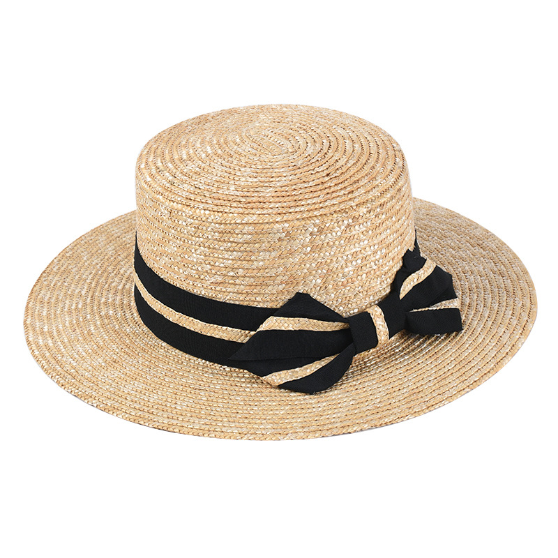 2020 New Fashion Bow Women Straw Sun Visor Hat Female Summer Flat Hats Vacation Dress Up Caps Wholesale Dropshipping
