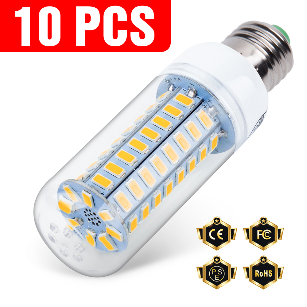 10PCS E27 Led Lamp 220V E14 Corn Lamp 3W 5W 7W 9W 12W 15W GU10 Lampada Led 220V G9 Led Lamp Light B22 Chandelier Lighting 240V