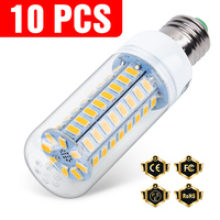 10PCS E27 Led Lampe 220V E14 Mais Lampe 3W 5W 7W 9W 12W 15W GU10 Lampada Led-lampe G9 Led Lampe Licht B22 Kronleuchter Beleuchtung 240V