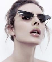 New Fashion Cat Eye Sunglasses Vintage Brand Designer metal Frame Sun Glasses Men Rimless Mirror Eyeglasses UV400