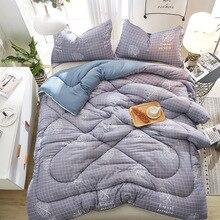 Зимнее модное утолщенное теплое моющееся хлопковое мягкое для кожи спальное одеяло для студентов Рождественский подарок