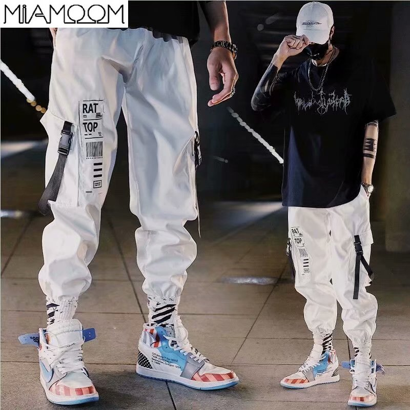 Mens Pants The New Trend Hip Hop Loose-fitting Nine-point Sport Pants For Men