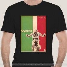 Camiseta masculina marca de algodão teesshirt camiseta marco pantani ciclismo campione il pirata cesenatico