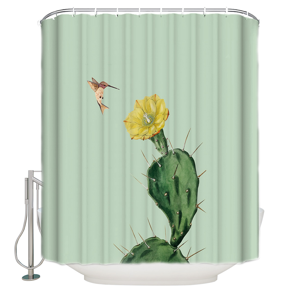 Flower Hummingbird Bathroom Accessories