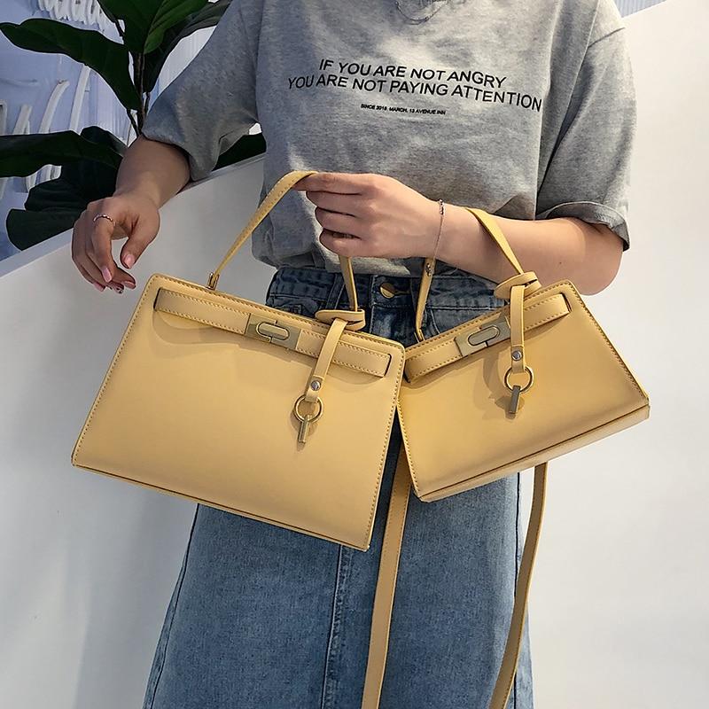 Brand Leather Handbag Women Vintage Solid Clutch PU Leather Bags Females Designer Fashion Crossbody Bag Tote Handbags Flap Bags