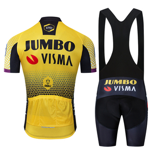 Image 2 - 2019 Pro צוות ג מבו Visma רכיבה על אופניים ג רזי סט Mens אופניים מאיו MTB מירוץ Ropa Ciclismo קיץ Hombre Roupa אופני בגדים