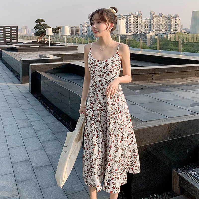 Fashion Style Suspender Floral Dress 2020 Women S New Summer A Line Dress Korean Fashion Fairy Mid Length Dress Women S Dress Dresses Aliexpress