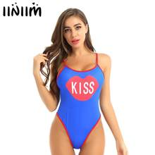 Womens Exotische Teddybeer Bodysuit Baby Minnaar Kus Gedrukt Zomer Bodycon Fancy Clubwear Padded Push Up Catsuit Bodystocking Kostuum(China)