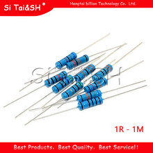 20pcs 2W Metal film resistor 5 color ring 1% 1R - 1M 1R 22R 47R 100R 220R 470R 1K 10K 22K 100K 220K 10 22 47 100 220 470 ohm