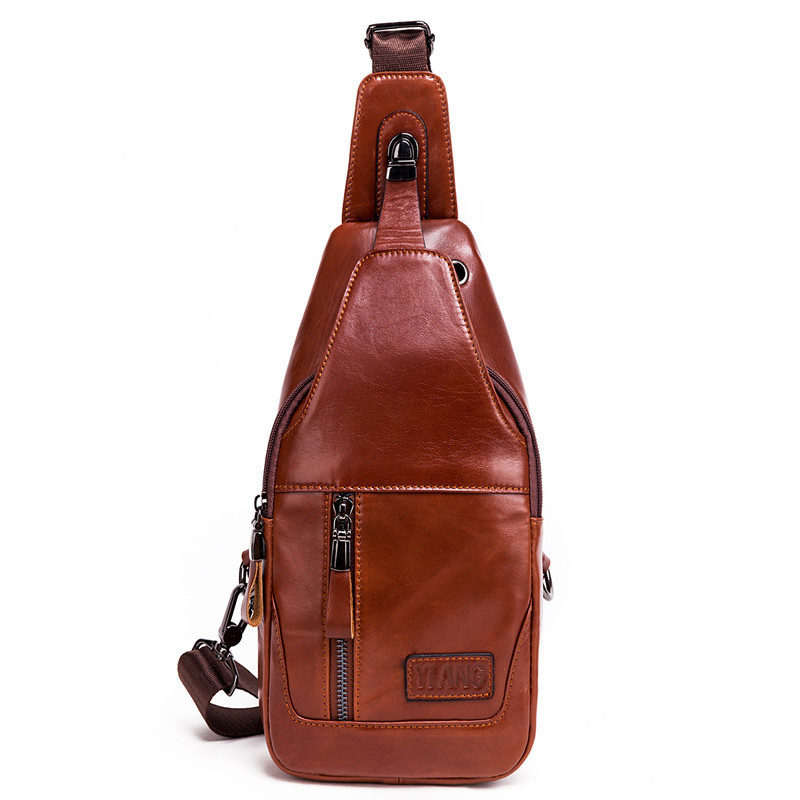 Men's Messenger <font><b>Bag</b></font> Leather Material British Retro Casual Fashion Style Multifunction Large Capacity High Quality Design image