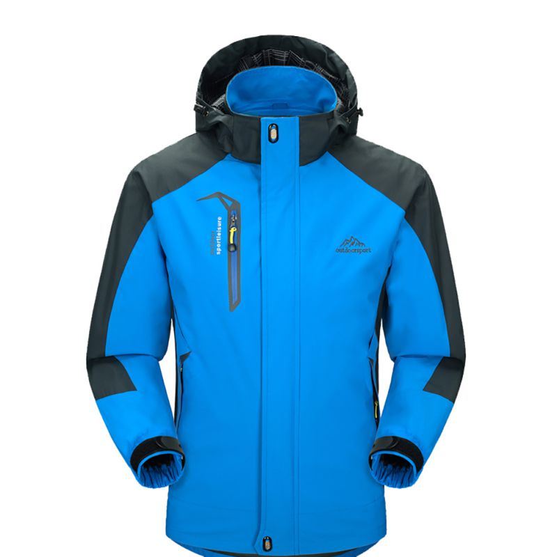 Outdoor Sport Clothing Camping Trekking Hiking Male Bike Ski Jacket Men Waterproof Jackets Softshell Removable Hat 2018 NEW Hot|Hiking Jackets| |  - title=