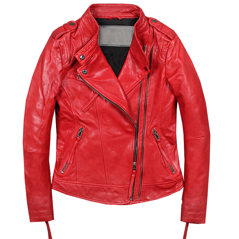 High Street European Automotive Sheepskin Leather Jackets Coats Summer Spring Thin Genuine Leather Jacket Women Streetwear A599