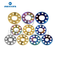 Wanyifa M6 M8 M10 Ti 9 Porous Nine Holes Washers Titanium Drilled Spacer Gaskets for Motorcycle Part Accessory|Bicycle Stem| |  -