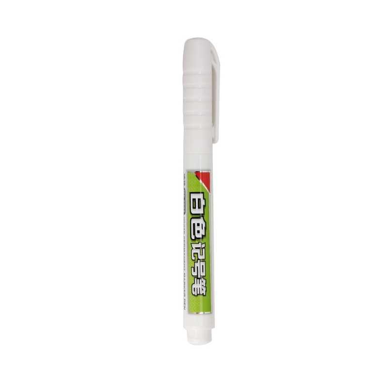 1 pc à prova dwaterproof água permanente tinta branca marcador tinta caneta papelaria arte ferramentas de escrita l41e