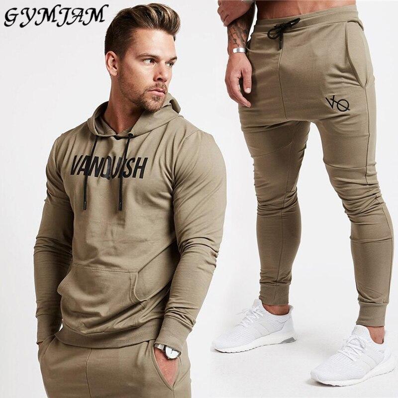 Cotton Casual Men's Suit 2020 Men's Hoodie + Men's Trousers Fashion Sportswear Outdoor Streetwear Fashion Men's Clothing