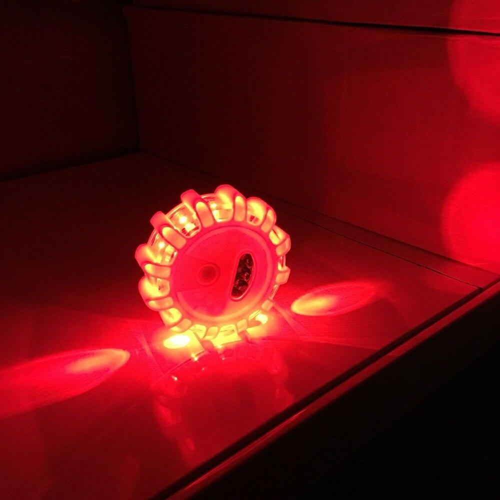 Mini 12 LED 8 Mode Emergency Rescue Safety Road Flare Flashing Warning Alarm Light Magnetic Base Disc Beacon For Car Truck Boat