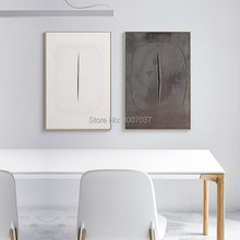 Master Lucio Fontana Abstract Home Decorative Canvas Painting Porch Handmade Oil Painting Living Room Bedroom Study Decoration