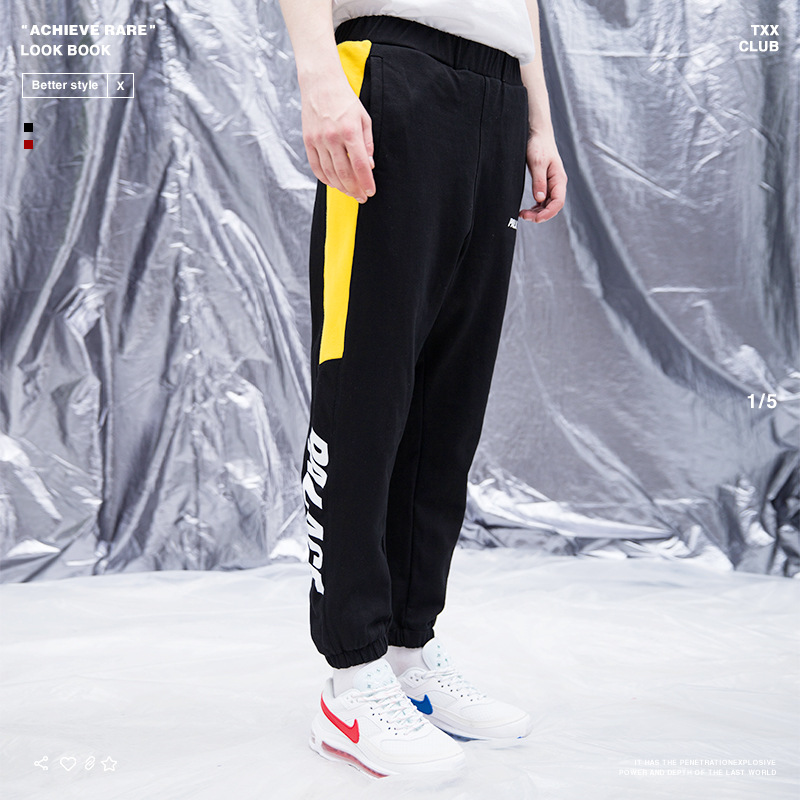 Palace Life 18 Popular Brand Autumn And Winter New Style Men'S Wear Mixed Colors Printed Skinny MEN'S Casual Pants Sweater Pants