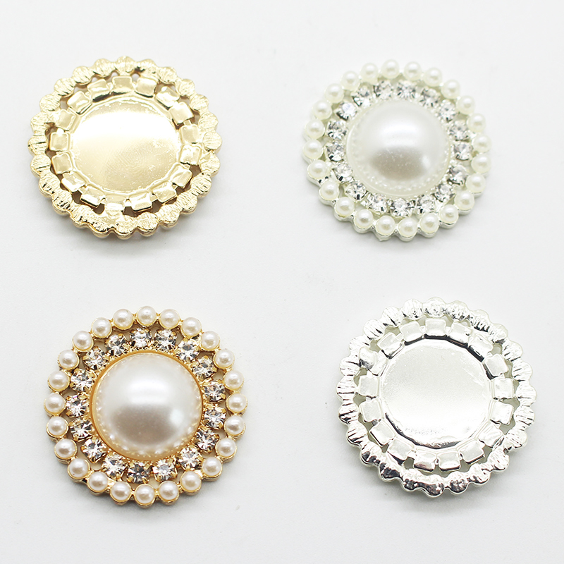 High-grade Simple 5 Pieces 25 Mm Diy Wholesale Price Crystal Pearl Wedding Jewelry Accessories Rhinestone Crafts Exquisite Produ