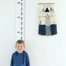 Деревянные настенные подвесные Детские график роста детей высота измерительная линейка Наклейка на стену для детской комнаты украшения дома