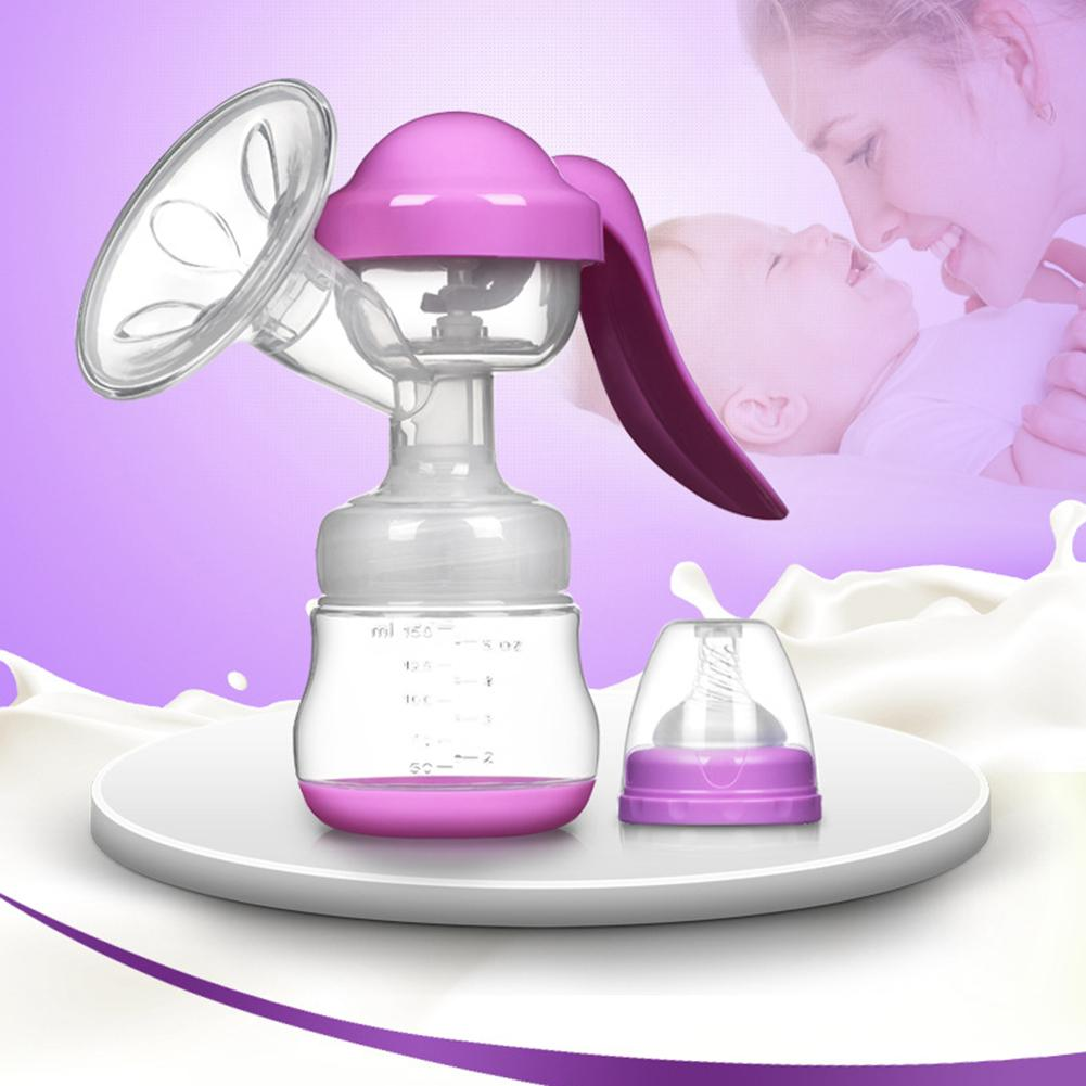 150ML Manual Breast Pump With Suction Feeding Nipple Breastfeeding Device PP Silicone Portable Breast Pump NEW