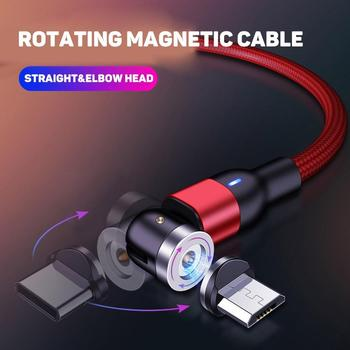 360-degree fast charging Magnetic 5A Fast Charging Cable Micro USB Type-C Plug Data Cord for Android image