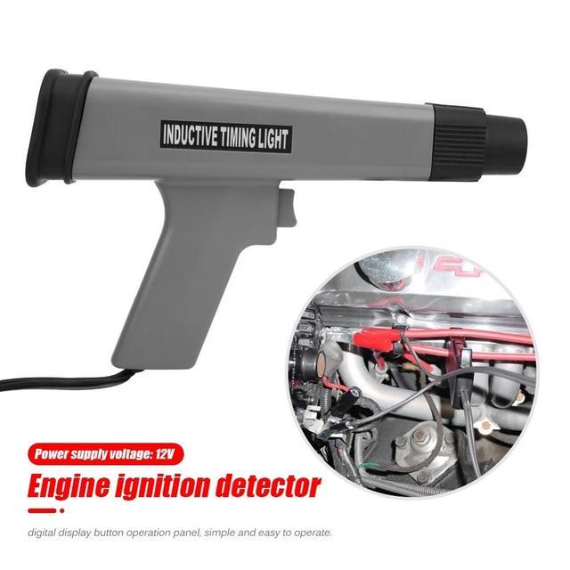 Sincronismo de ignição luz cronometragem lâmpada estroboscópica detector com display digital led indutivo sincronismo ferramenta diagnóstico do carro ferramenta reparo