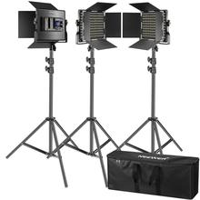 Video-Light Photography-Lighting-Kit Led-Panel Neewer 3-Packs Lcd-Screen 660 with 3200-5600K