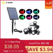 Spot lumineux solaire à couleur changeante, imperméable conforme à la norme IP68, luminaire dextérieur, éclairage de paysage, idéal pour un jardin, T SUNRISE ou LED
