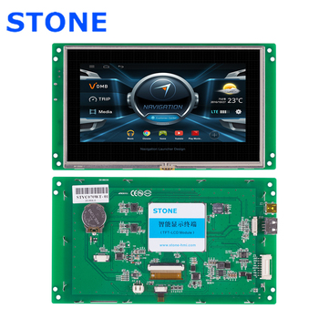 STONE 7.0 Inch HMI TFT LCD Touch Screen with RS232/RS485  Interface+Program for Industrial Use 4 3 inch hmi tft lcd display with serial interface rs232 rs485 ttl for equipment use